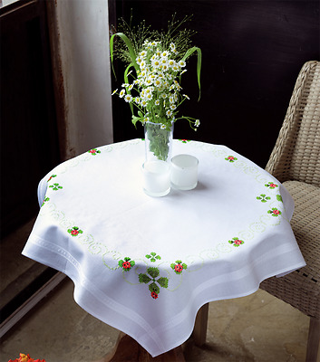 Vervaco - Tablecloth - Embroidery Kit - Four Leaf Clover - PN-0143860