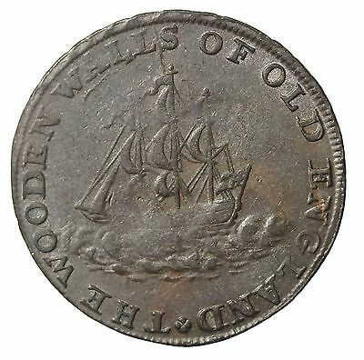 1795 Great Britain Middlesex London Halfpenny Conder Token DH-985
