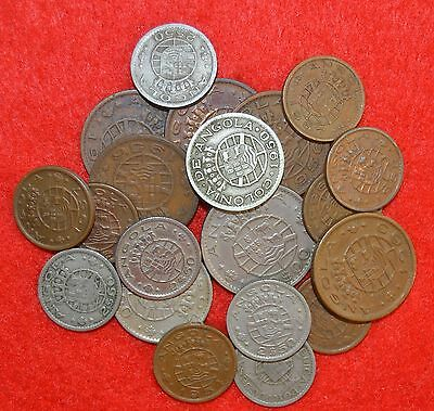 PORTUGAL COLONIES 20 COINS LOT  Angola