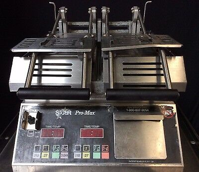 *NICE* STAR Pro-Max CG14SPTK- Grooved Double Panini Press
