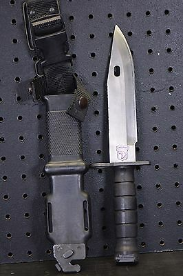 USGI MILITARY LAN CAY M9 FIGHTING KNIFE AND SCABBARD marked AIRBORNE