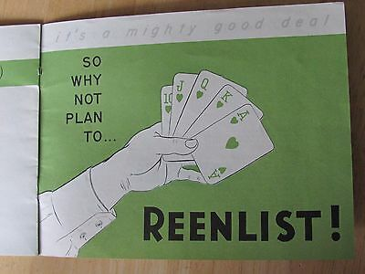 C 1960 Us Army Far East , Reenlistment Wit Special Service Hotel Brochure