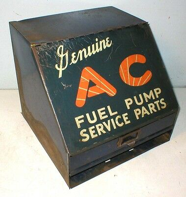 Ac Fuel Pump Service Parts Cabinet Tin Sign Gas Station