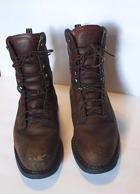 Red Wing Safety Steel Toe Brown Leather Boots Men's Size 13 H. 2238