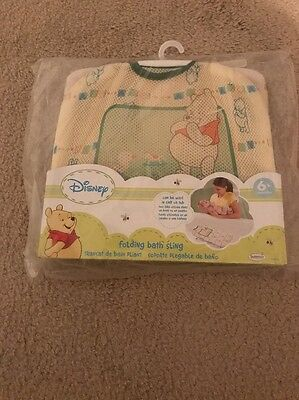 Winnie The Pooh Baby Infant Folding Bath Sling Disney New Unopened