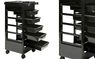 Salon Hairdresser Beauty Spa Hair Trolley Barber Rolling Storage Cart 5 Drawer