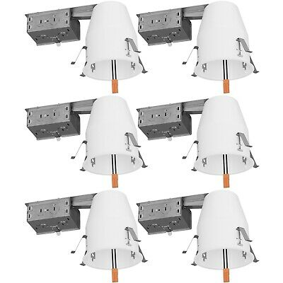 """Sunco 6 PACK 4"""" inch REMODEL CAN Air Tight IC Housing LED Recessed Lighting UL"""