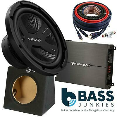 """KENWOOD 12"""" 2000 Watts Sub with 2 Channel Amplifier Bass Box & Amp Kit Package"""