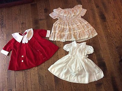 VINTAGE 1950's Baby Girl's Toddler Dresses Lot of 3