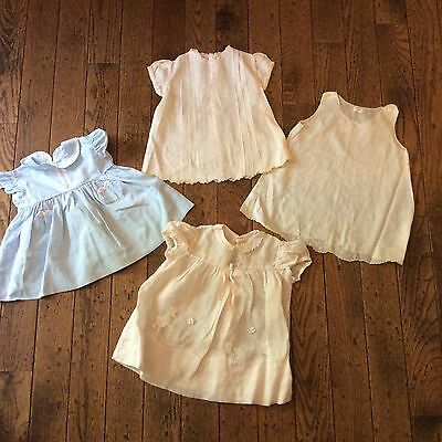 VINTAGE 1950's Baby Girl's Dresses Lot of 3
