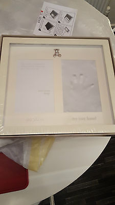 john lewis baby gift photo/hand print new sealed rp £32