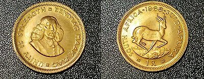 1968 South Africa 1 Rand Gold Coin Eendrag Maak Mag Unity is Strength