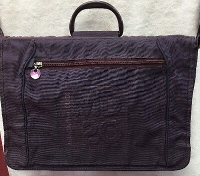 Mandarina Duck laptop briefcase messenger shoulder bag Purple