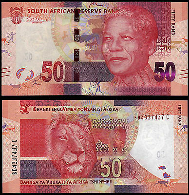 South Africa 50 Rand (P135) N. D. (2012) Sig. Marcus Unc