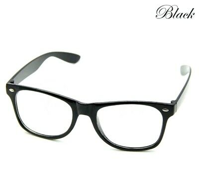 Black Thick Rim Retro Glasses Nerd Geek Hipster Fake Eye Glasses with Clear Lens