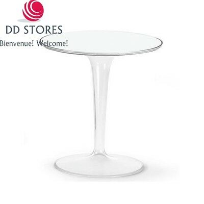 Kartell 8600E5 Table d'appoint Tip Top (Blanc brillant)