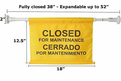 """Safety Sign Closed for Maintenance Doorway Hanging Cleaning Expendable up to 52"""""""