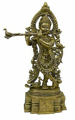 Brass god statue of krishna handicrafts product by BharatHaat™BH03036