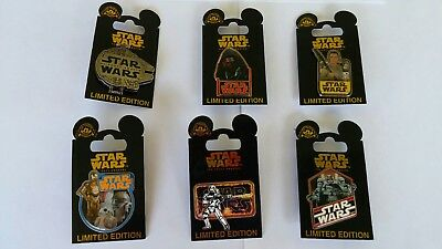Start Wars The Force Awakens Pins Limited Edition Set of 6 Disney