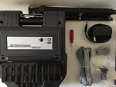 Stentura 200 SRT stenography machine with case and accessory