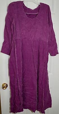 Women's Maternity Nursing Modest Long Sleeve Purple Dress Size S/M