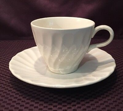 Vintage Cream Swirl Cup & Saucer Matches Myott Staffordshire Olde Chelsea #A215F