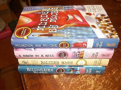 lot of 4 hardcover books cozy mysteries coffeehouse cleo coyle mocha brew blend