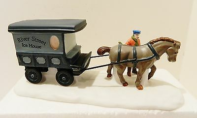 "Dept.56  Heritage-Dickens Village "" River Street Ice House Cart "" ,  #59595"