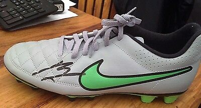 memphis depay signed football boot with coa