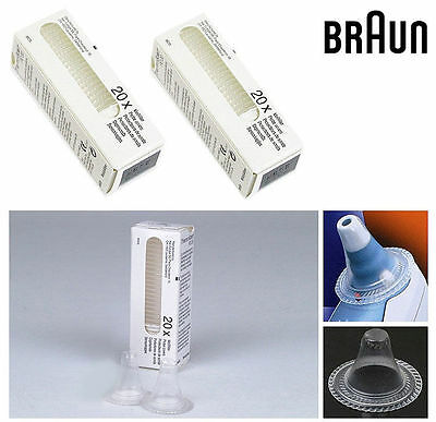 40 x BRAUN ThermoScan Lens Filters Ear Thermometer Probe Cover Cap