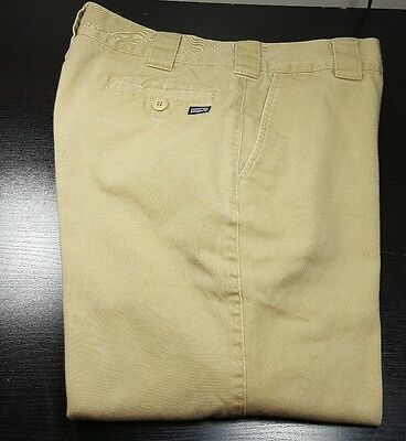 New! PATAGONIA-Golden Tan Organic Cotton Twill,Flat Front Chino Pants-(34x31)