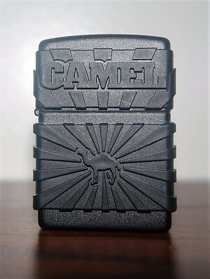 RARE Never Fueled or Fred 2-Sided Black Matte Zip-guard Camel Zippo Lighter