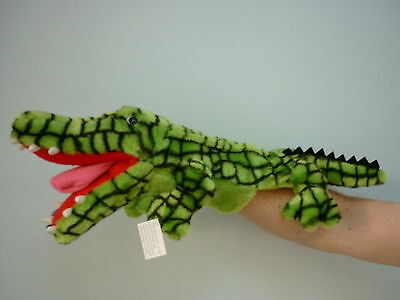 Crocodile hand puppet full bodied - Large - with working mouth &  tongue