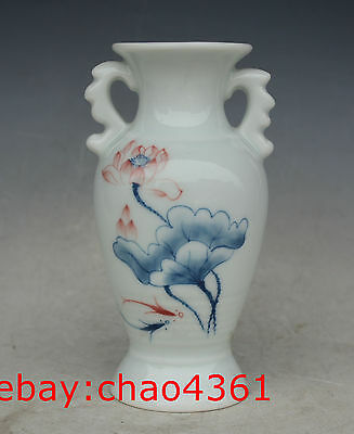 China porcelain hand-made Hand Painted lotus vase .41