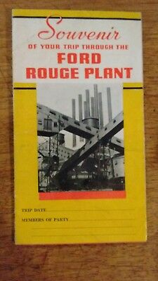 1936 Ford Trip through the Rouge Plant Brochure Poster Souvenir Dearborn Mich.