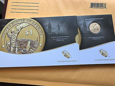 2015 United States COIN & CURRENCY SET Mohawk Ironworkers (15RA) NATIVE ENHANCED