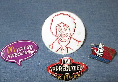 MCDONALDS vintage pins RONALD MCDONALD plastic ring collectible LOT