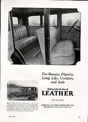 1926 Nash Car ad by American Leather Producers ad --l-743