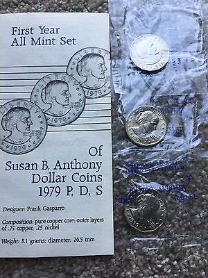 Uncirculated Susan B Anthony Dollar Coins