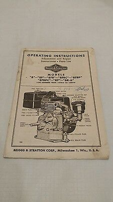 Vintage Briggs and Stratton Engine Operating Instructions
