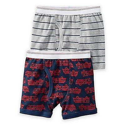 New Carter's 2 Pairs Underwear Boy Briefs NWT 2T-3T 4T-5T Red Fire Truck