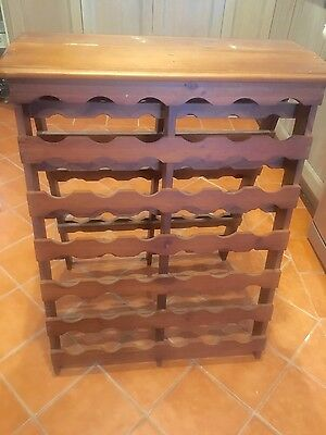 Solid Wooden Timber Wine Rack. Holds 72 blttles