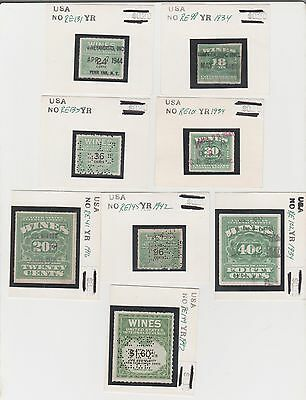 Early 20th Century US Back of Book BOB Wine Revenue Stamp Collection Lot