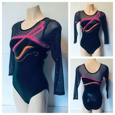 NEW LONG SLEEVE GYMNASTICS LEOTARD Adult Small 60cm Girls 14 Ballet Leotard Danc