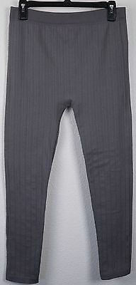 Feathers Maternity Leggings OSFA One Size Fits All Gray Soft Stretch