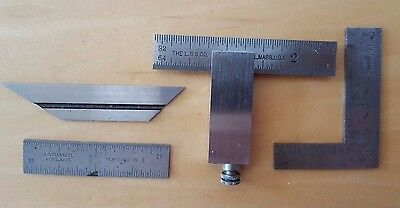 L. S. Starrett #453 Machinist Square with Extras