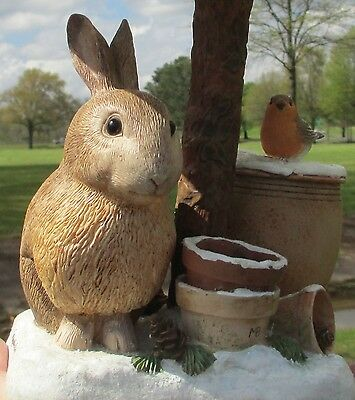 Hallmark Nature's Sketchbook Bunny Rabbit Lamp, Marjolein Bastin - Works