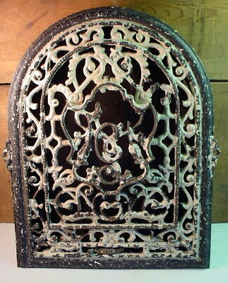 Antique Iron Wall Grate Register Ornate Victorian w/ Louvers (OFFERS?)