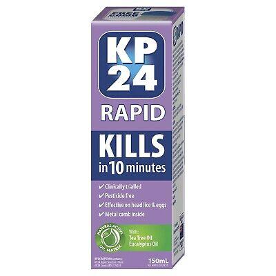 KP24 Rapid 150ml kill head lice and their eggs in just 10 minutes
