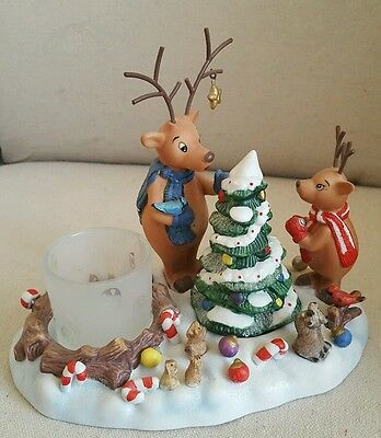 CHRISTMAS TREE PARTYLITE REINDEER Votive Candle Holder   P8536